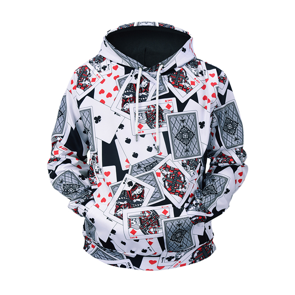 818c04bb *Size: M/L/XL/XXL/XXXL *Type:3D Print hoodie *Seasons:Spring.Autumn.Winter  *Package:1 x Hoodie *Net Weight:0.5KG *Style:Hip Hop, Poker *Elasticity: Medium ...