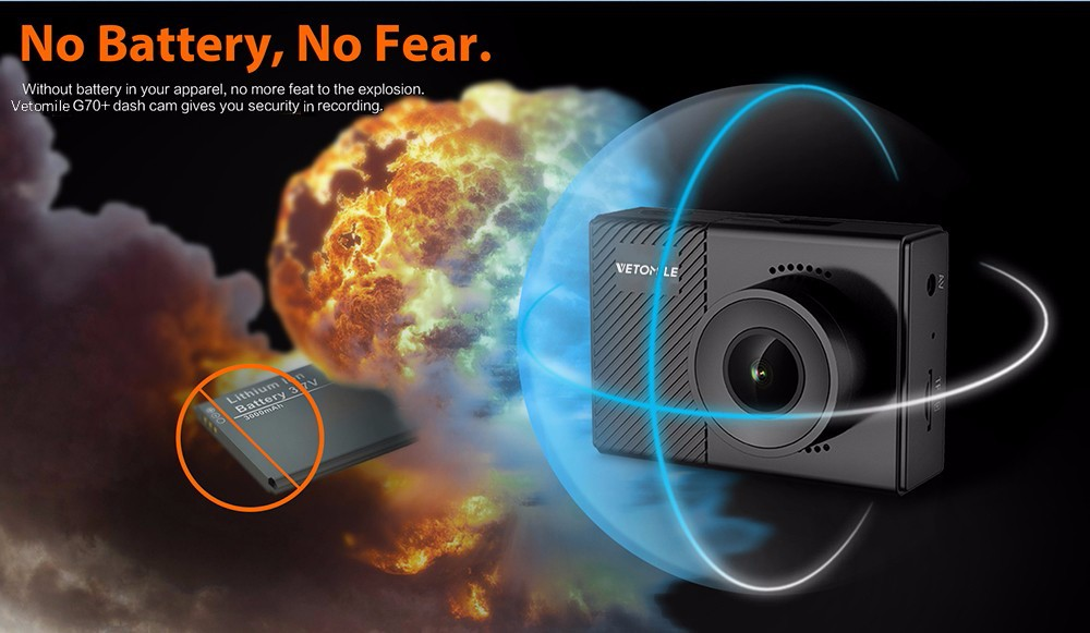 Car DVR Dash Cam F1.5 Supercapacitor WiFi Transmission SONY IMX323 VETOMILE G70
