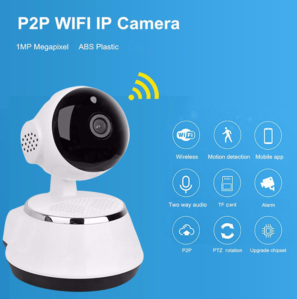 Wireless 720P PT Network Home Security CCTV IP Camera Night Vision ...