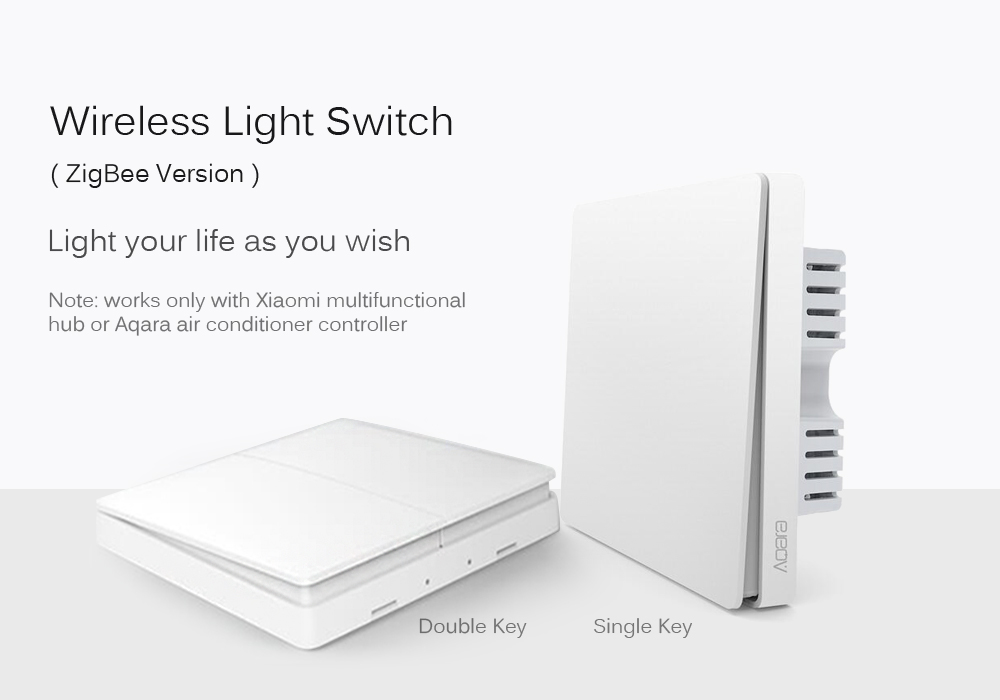 Xiaomi Aqara Smart Light Control Wall Switch Wireless Single Double ...