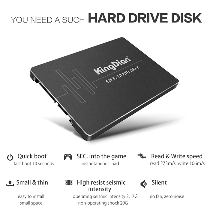 60 go kingdian s180 ssd disque dur sata3 4ch disque dur pour pc portable bureau ebay. Black Bedroom Furniture Sets. Home Design Ideas