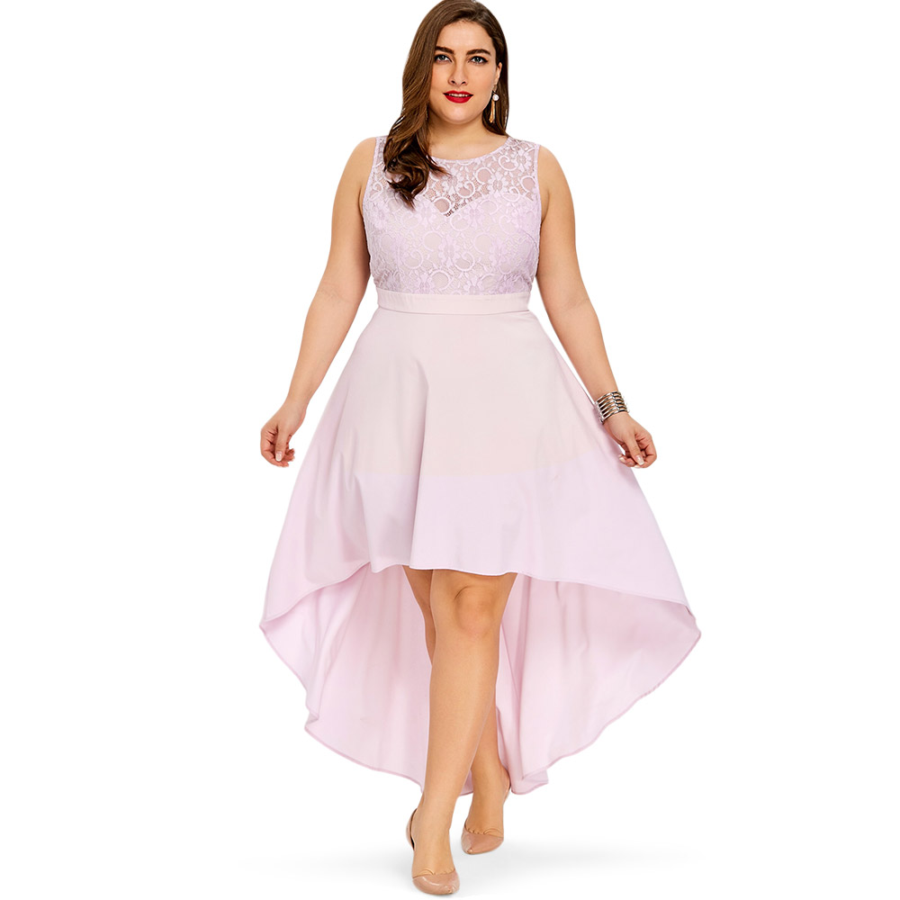5ea56b49ade9d Details about Plus Size Evening Party Prom Dress Women Sleeveless High Low  Bridesmaid Dress