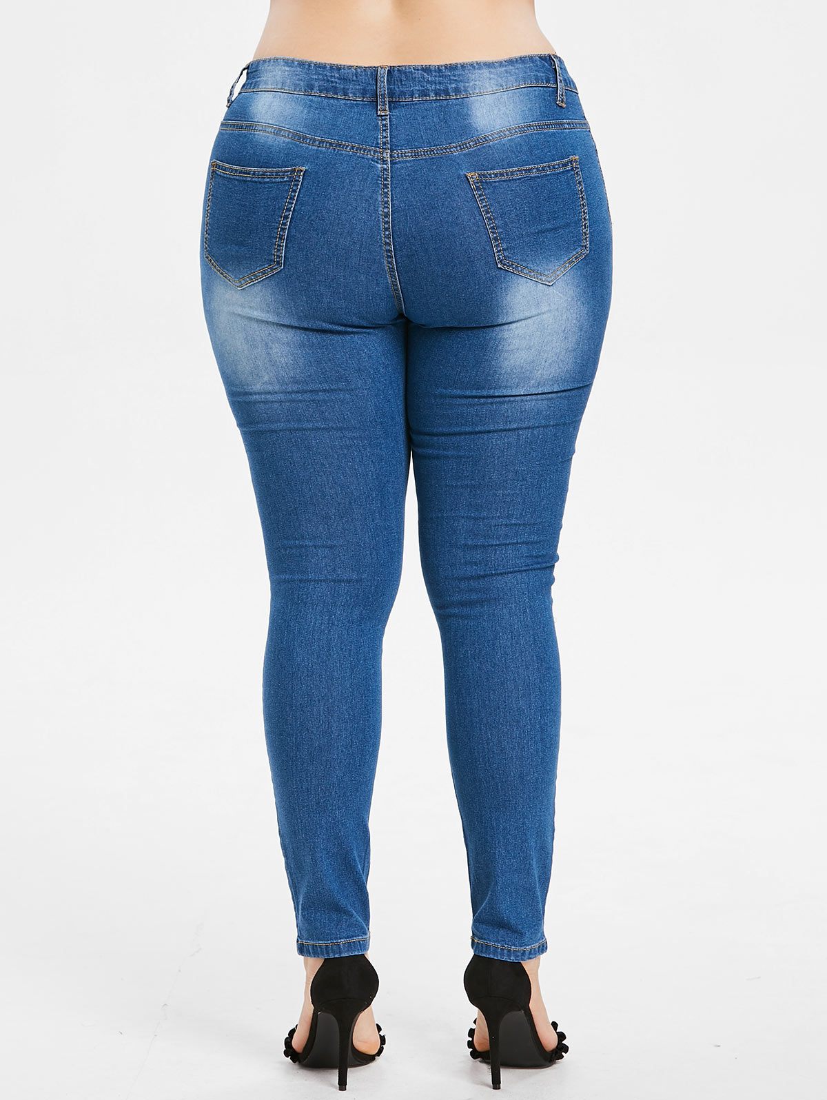 59ef0e70f2381 ... the jeans feature feminine and lovely butterfly embroidered in the  front
