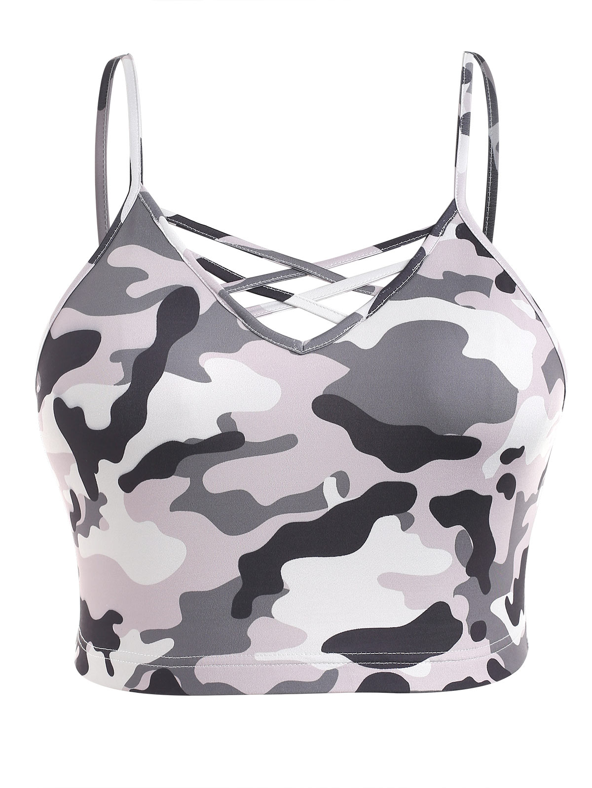 7613a3d1b NEW Camouflage Sports Bra Plus Size Lady Straps Gym High Impact ...
