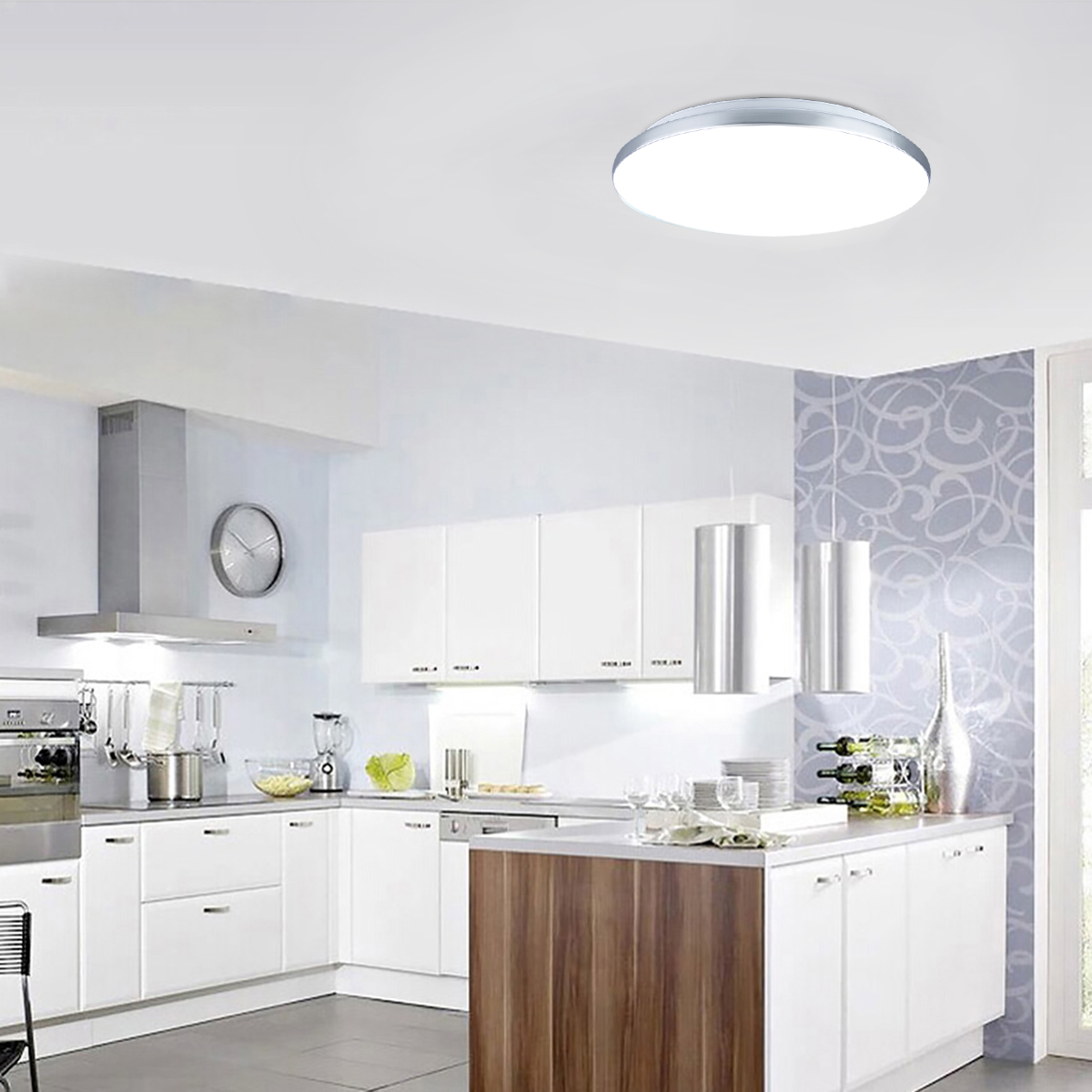 Kitchen Lighting Ceiling Fixtures: 24W Round LED Ceiling Down Light Flush Mount Home Kitchen