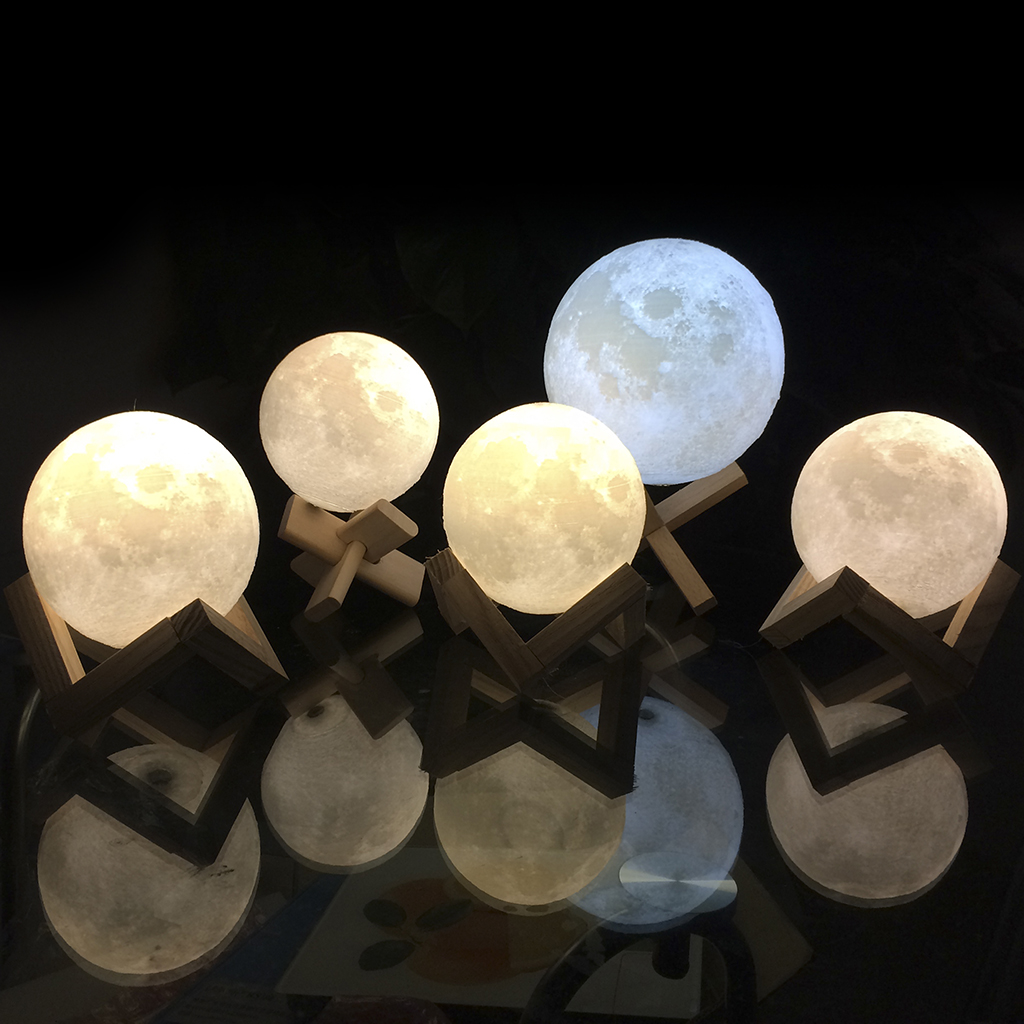 USB Rechargeable 3D Printing Moon Lunar LED Night Light Lamp With Wooden  Stand,. 3.15 In, 3.94 In, 4.72 In, 5.91 In, 7.09 In (8 Cm, 10 Cm, 12 Cm, 15  Cm, ...