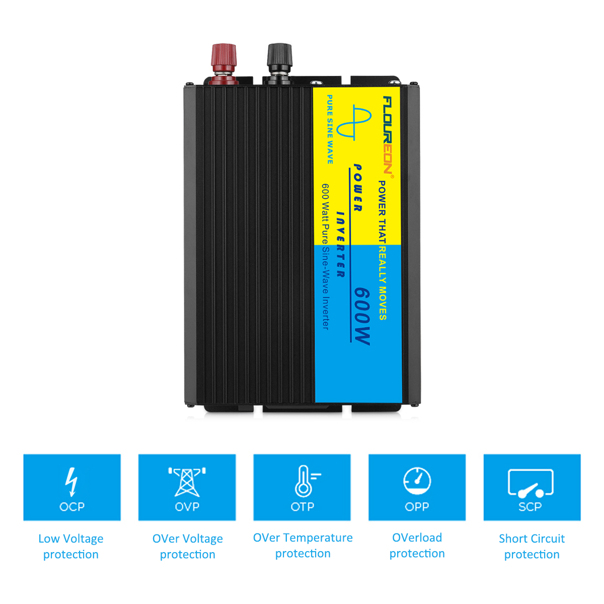 New Pure Sine Wave Power Inverter 600w Peak 1200w Dc 12v To 220v Ac Circuit Diagram As Well In This Product Before And After The Dual Soft Start Technology Cpus Core Spwm Pulse Width Control Original Constant Current