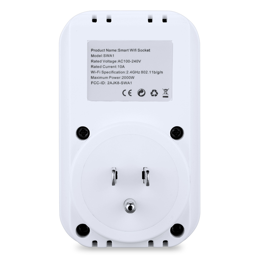 Details about Smart Wi-Fi Socket Timer Control Electronic Compatible With  Amazon Alexa US Plug
