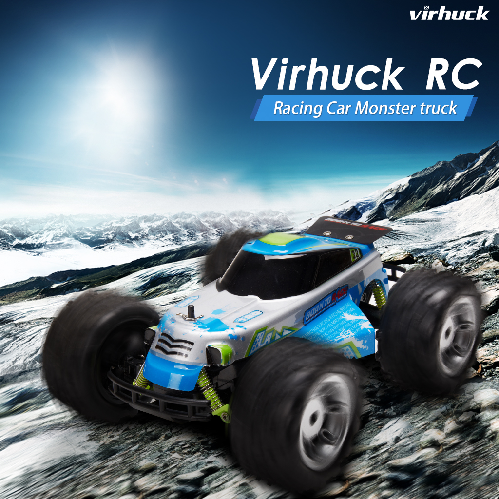 VIRHUCK 9112G 2.4G 1:18 Scale Remote Control Off-Road Racing Car ...