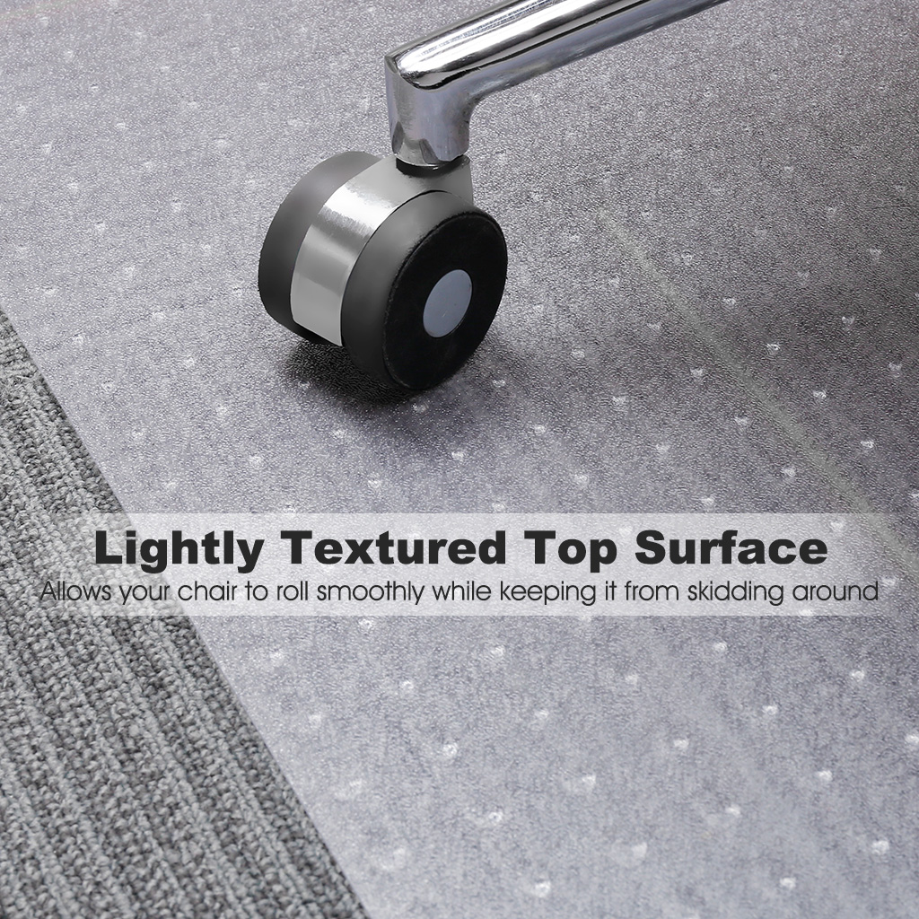 translucent office chair mat carpet protector 48 x 30 for. Black Bedroom Furniture Sets. Home Design Ideas