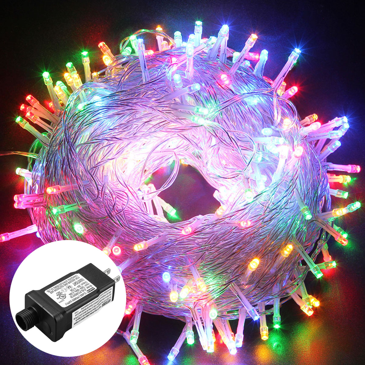 Christmas Outdoor Decor 50m Multi Color String 250 Led Light Party