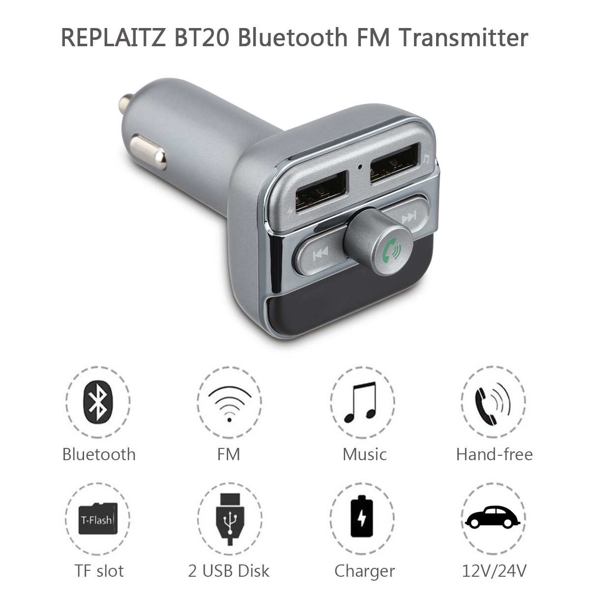 bluetooth wireless car kit mp3 player fm transmitter radio. Black Bedroom Furniture Sets. Home Design Ideas