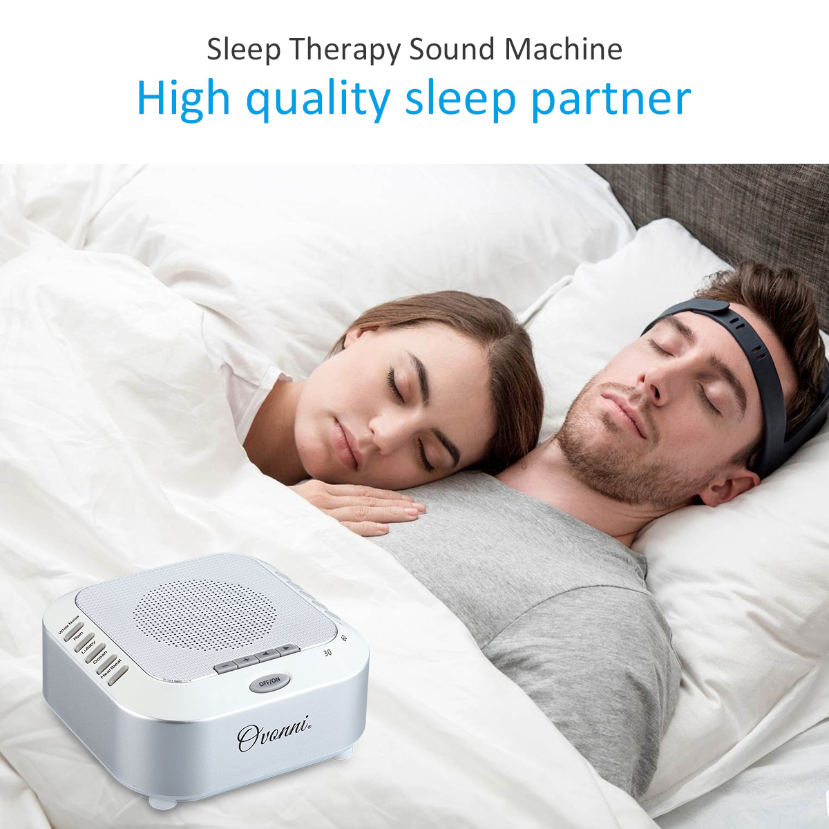 sleep therapy sound machine white noise relaxing deep sleep solution sleep mask ebay. Black Bedroom Furniture Sets. Home Design Ideas