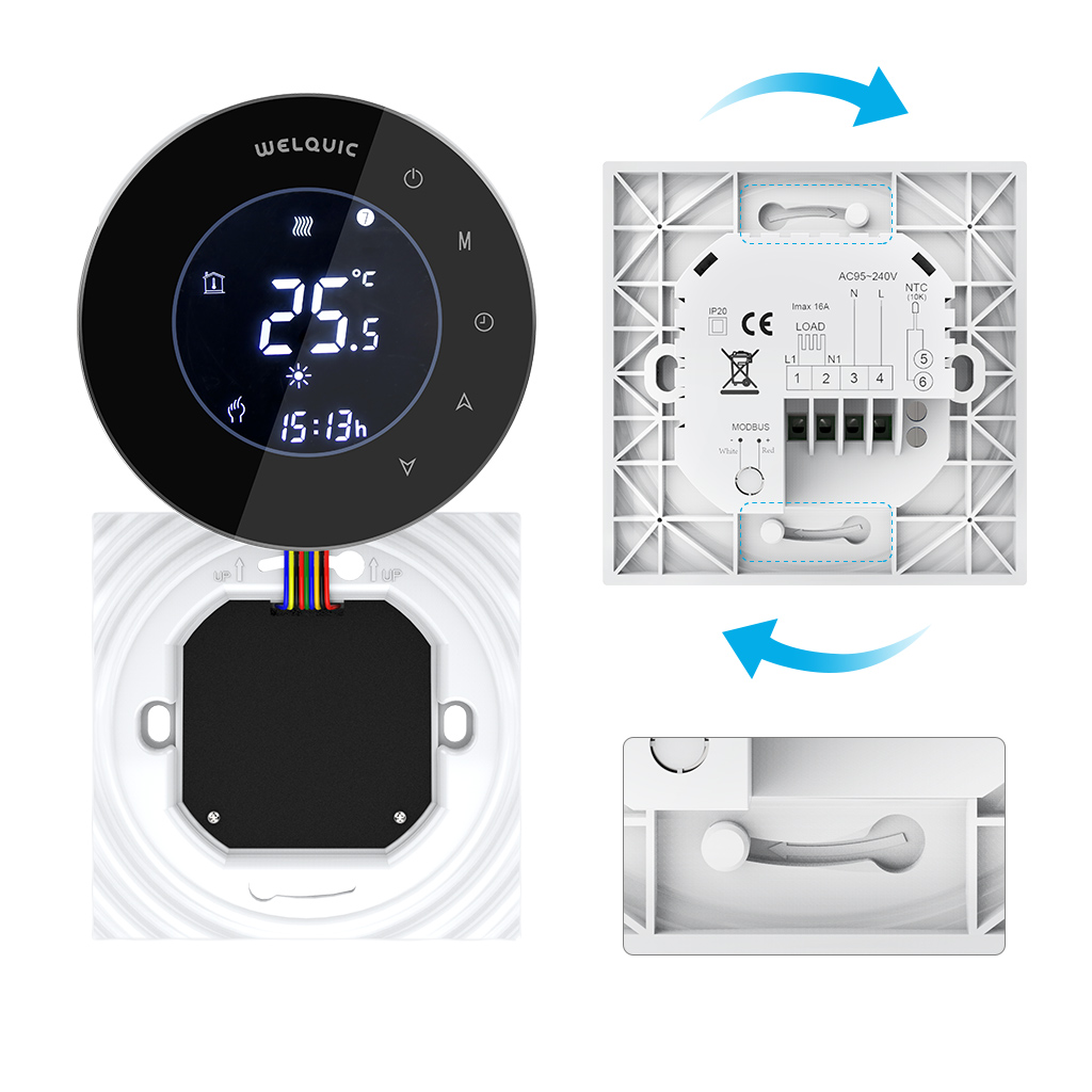 digital lcd thermostat fu bodenheizung heizk rper temperaturregler95 240v neu ebay. Black Bedroom Furniture Sets. Home Design Ideas