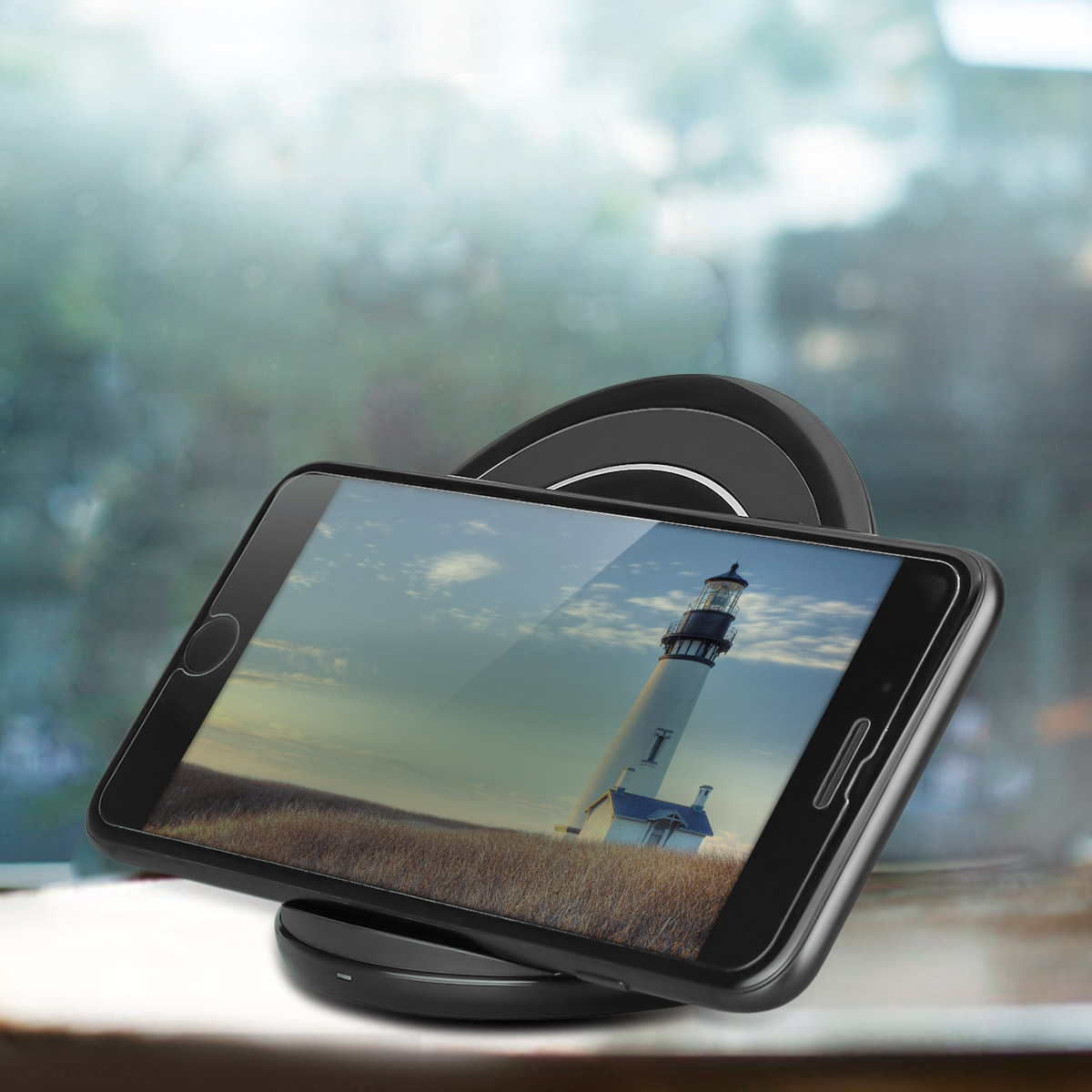 qi wireless charger fast charging kit stand pad for. Black Bedroom Furniture Sets. Home Design Ideas
