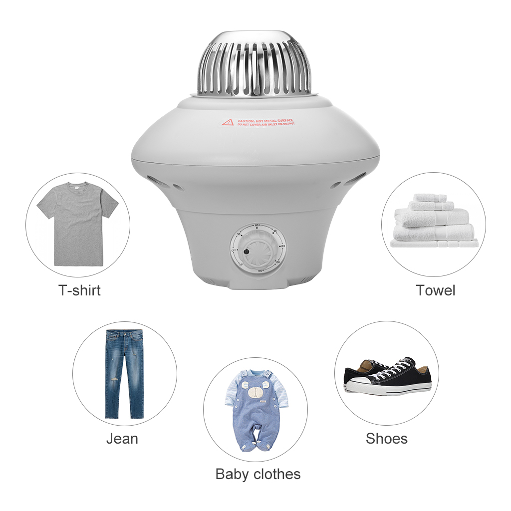 Home Electric Clothes Dryer 1000w Heater Folding Wardrobe