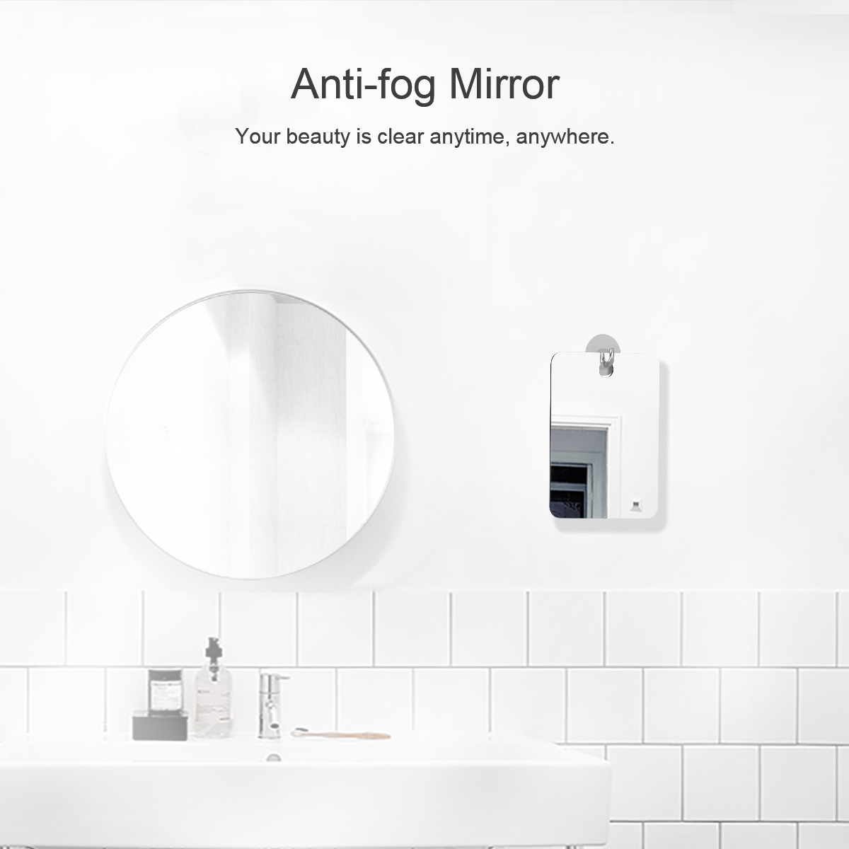Fog-free Shower Mirror Anti-Fog Fogless Travel Portable Shaving ...