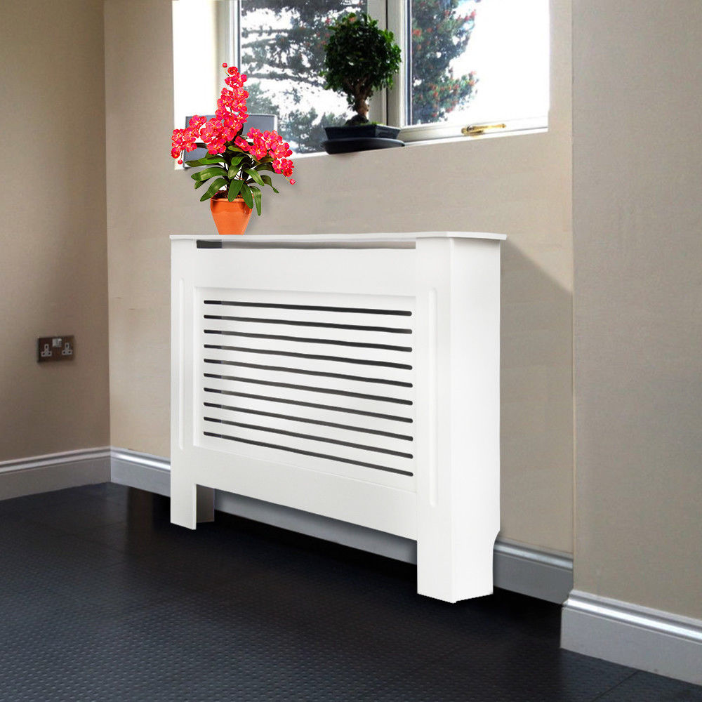 Painting Mdf Kitchen Cabinets White: White Painted Radiator Cover Cabinet MDF Cross Wood Grill