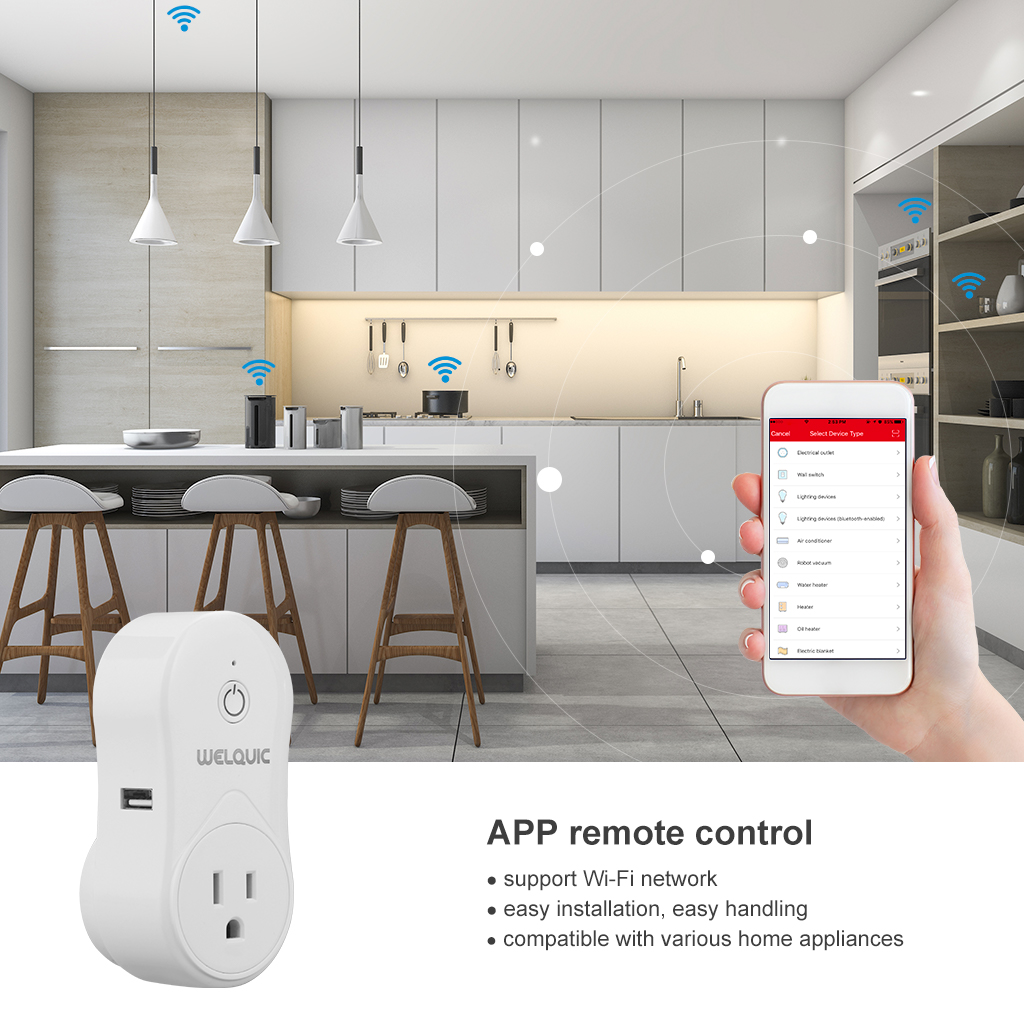 Smart Socket WiFi Outlet Plug Switch Works with Alexa Google Home ...