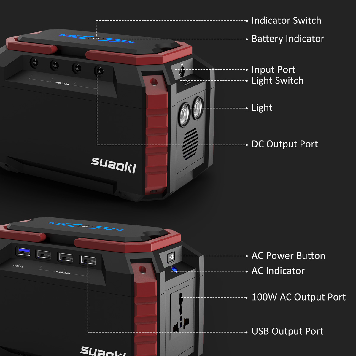 Suaoki Portable 150wh Solar Power Inverter Generator Supply Energy Battery Via The Mini Usb Port On Charging Circuit Or 1 X Mc4 Cable To Charge S270 Panels Ac Adapter Wall Outlet Dc Female Cigarette Lighter In Car