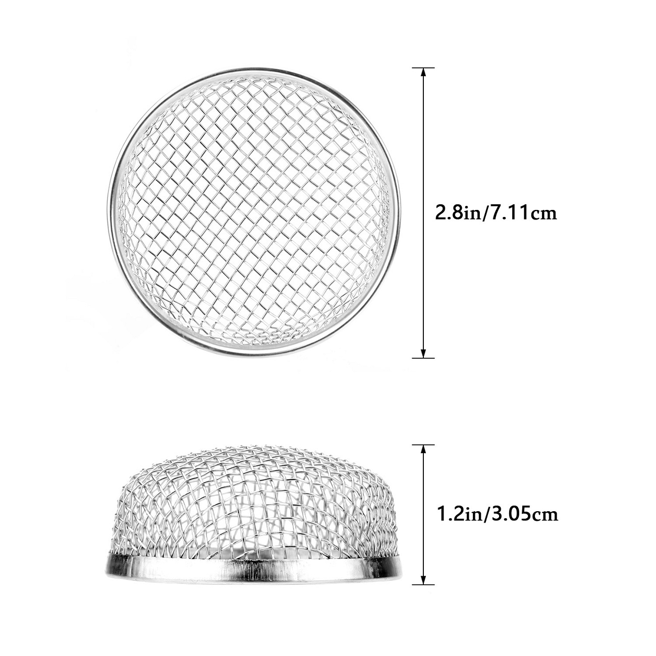 4.5 x 4.5 Inch Tatuo Flying Insect Screen RV Furnace Vent Cover Water Heater Vent Cover Stainless Steel Mesh with Installation Tool