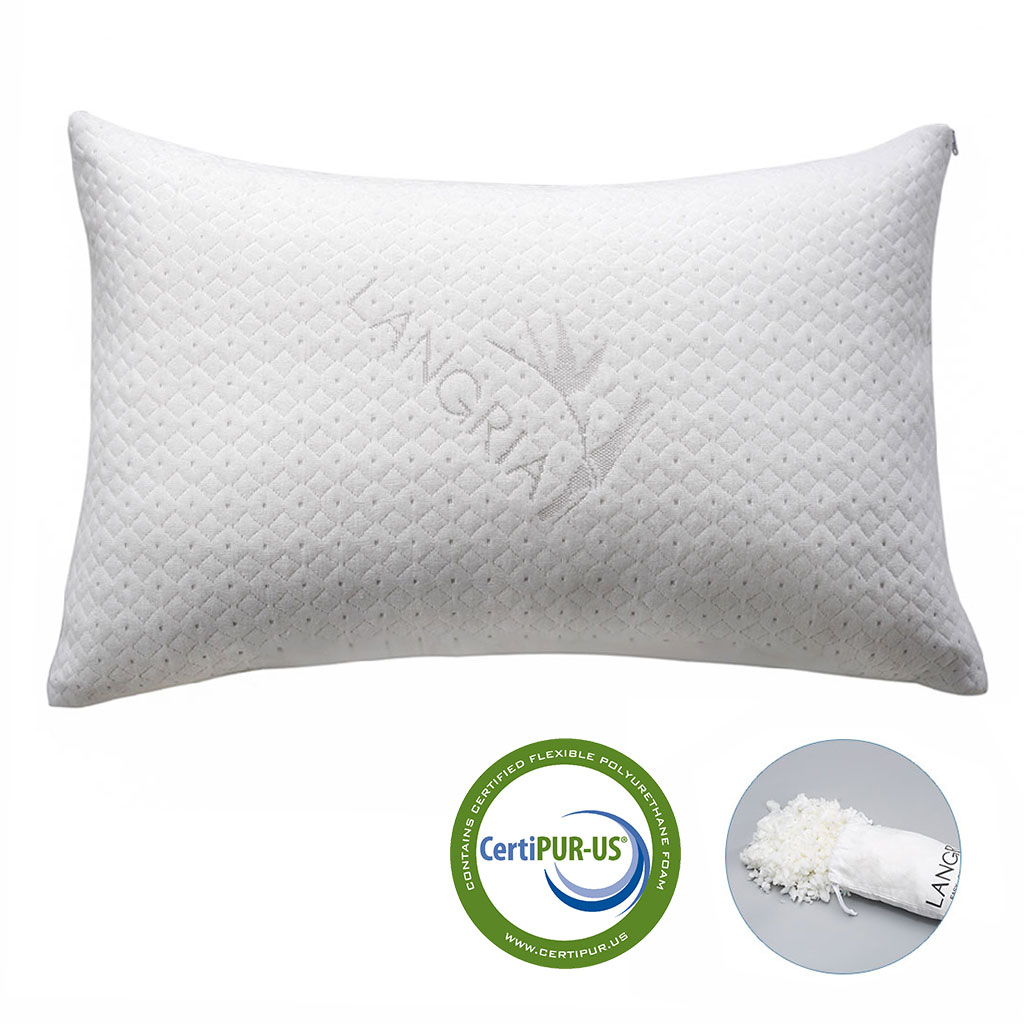 Head Cavity Contour Memory Foam Bed Pillow Neck Ergonomic