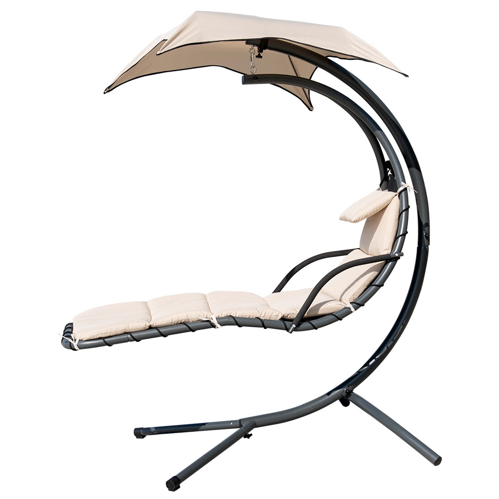 Enjoyable Details About Garden Hammock Chair Helicopter Swing Seat Hanging Sun Lounger W Cushion Canopy Home Remodeling Inspirations Propsscottssportslandcom