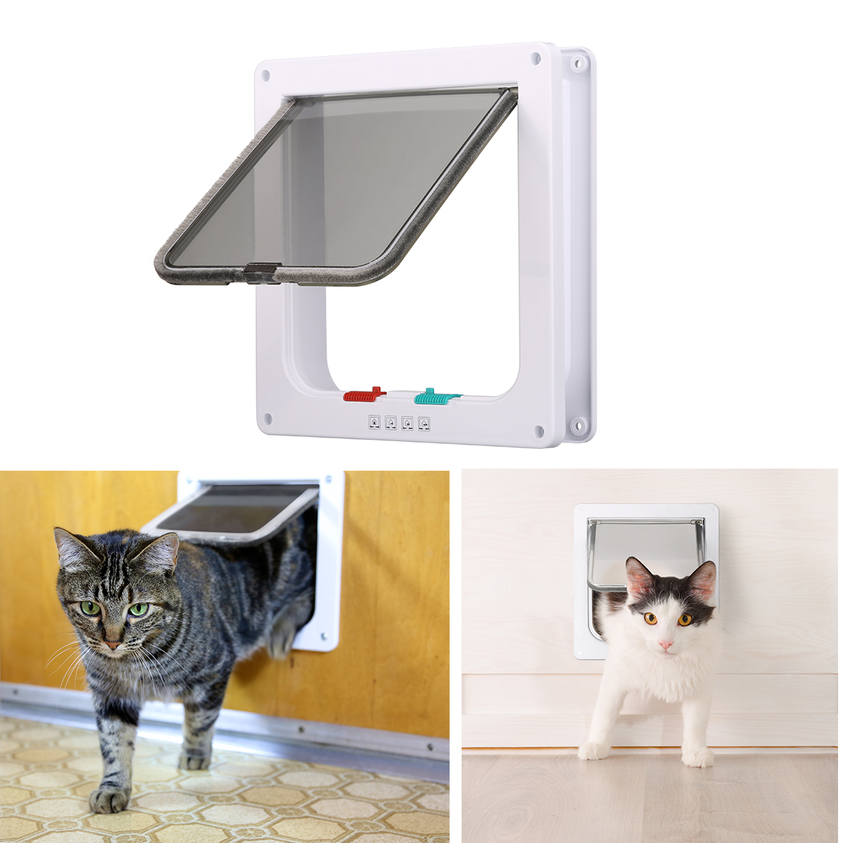 Details about 4-Way Locking Cat Door The Kitty Pass Interior Pet Dog Entrance Safe Flap Gate S  sc 1 st  eBay & 4-Way Locking Cat Door The Kitty Pass Interior Pet Dog Entrance Safe ...