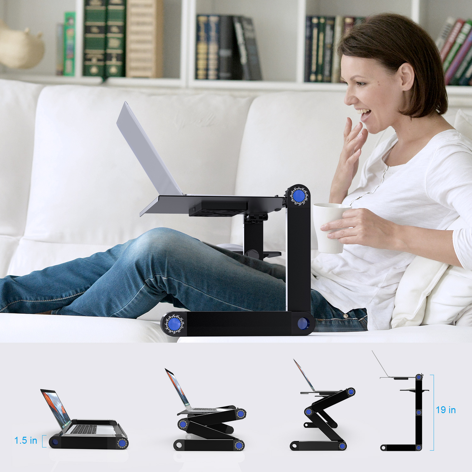 Laptop Table Cooling Tray Stand