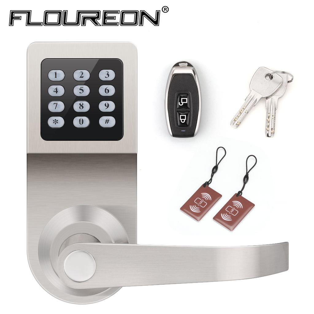 Digital Electronic Keypad Door Lock Handle Remote Control M1 Card Combination Using Pic16f84 Floureon With Adjustable Hand Is Excellent For Your Homeoffice Staff And Gyms Memberseasy To Fastextra