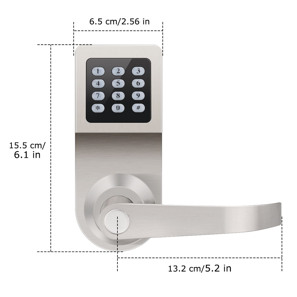 Smart Keyless Electronic Keypad Door Lock Card Password Key Remote Combination Using Pic16f84 Floureon Digital With Adjustable Hand Is Excellent For Your Homeoffice Staff And Gyms Memberseasy To Control Fastextra