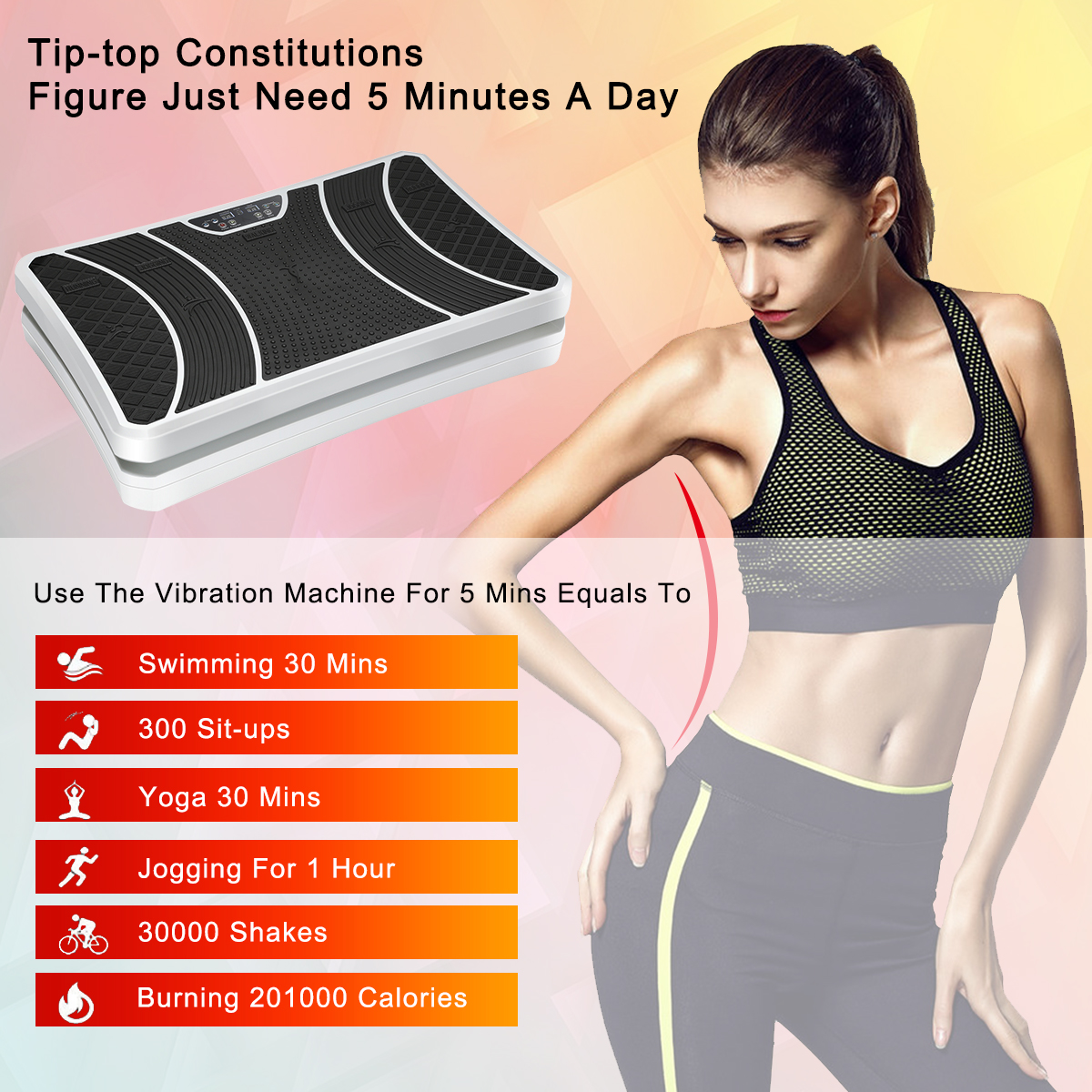 60607c7f7b220 Confident Body Fitness Vibration Plate Remote Control Vibration Platform Home  Workout Massage Vibration Machine Slim Body Shaper Exercise Equipment with  ...
