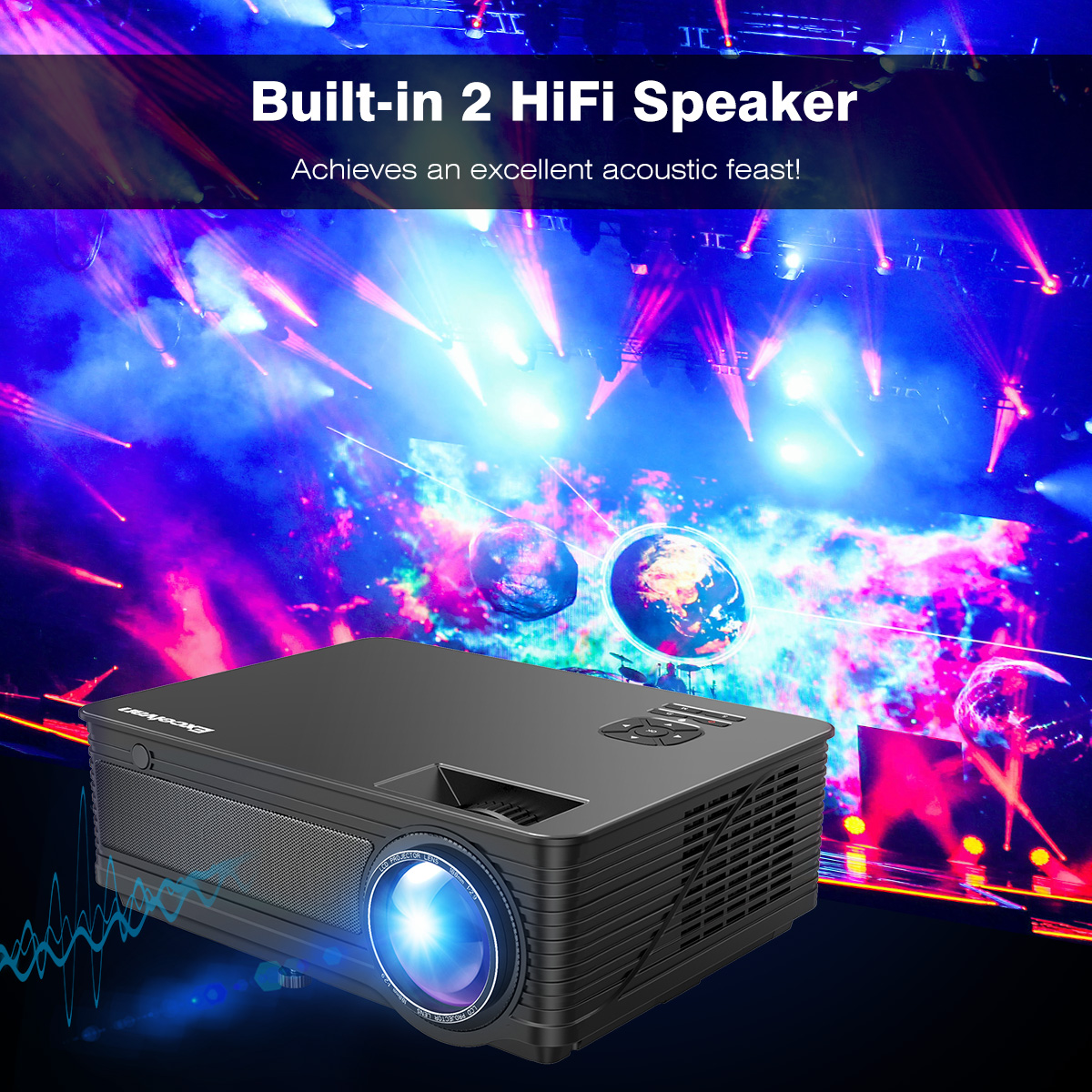 Excelvan Cl720 Full Hd Home Theater Projector 3000 Lumen: 6000Lumens LED Videoproiettore 1080P HD Home Cinema