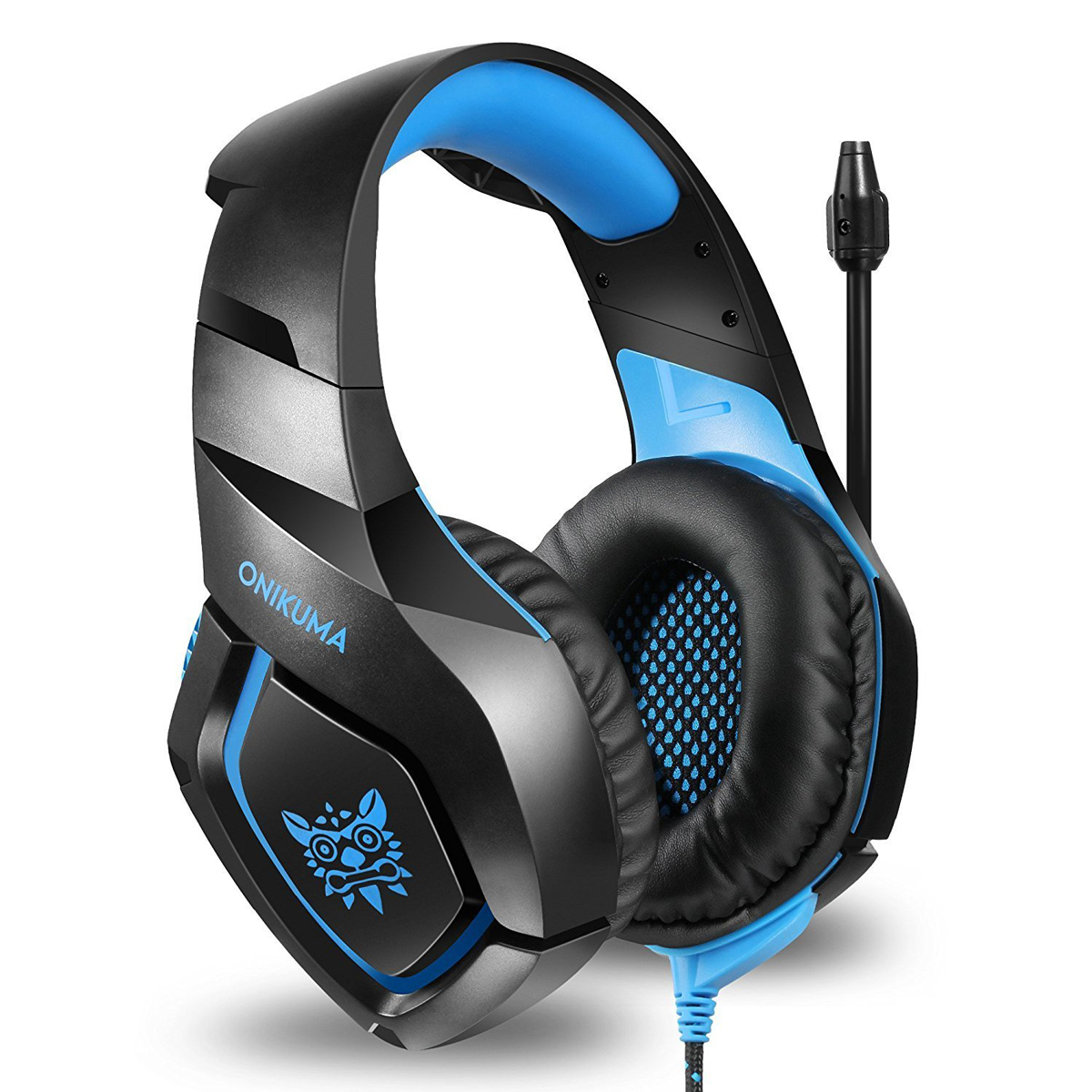 over ear stereo gaming headset kopfh rer mit mikrofon f r. Black Bedroom Furniture Sets. Home Design Ideas
