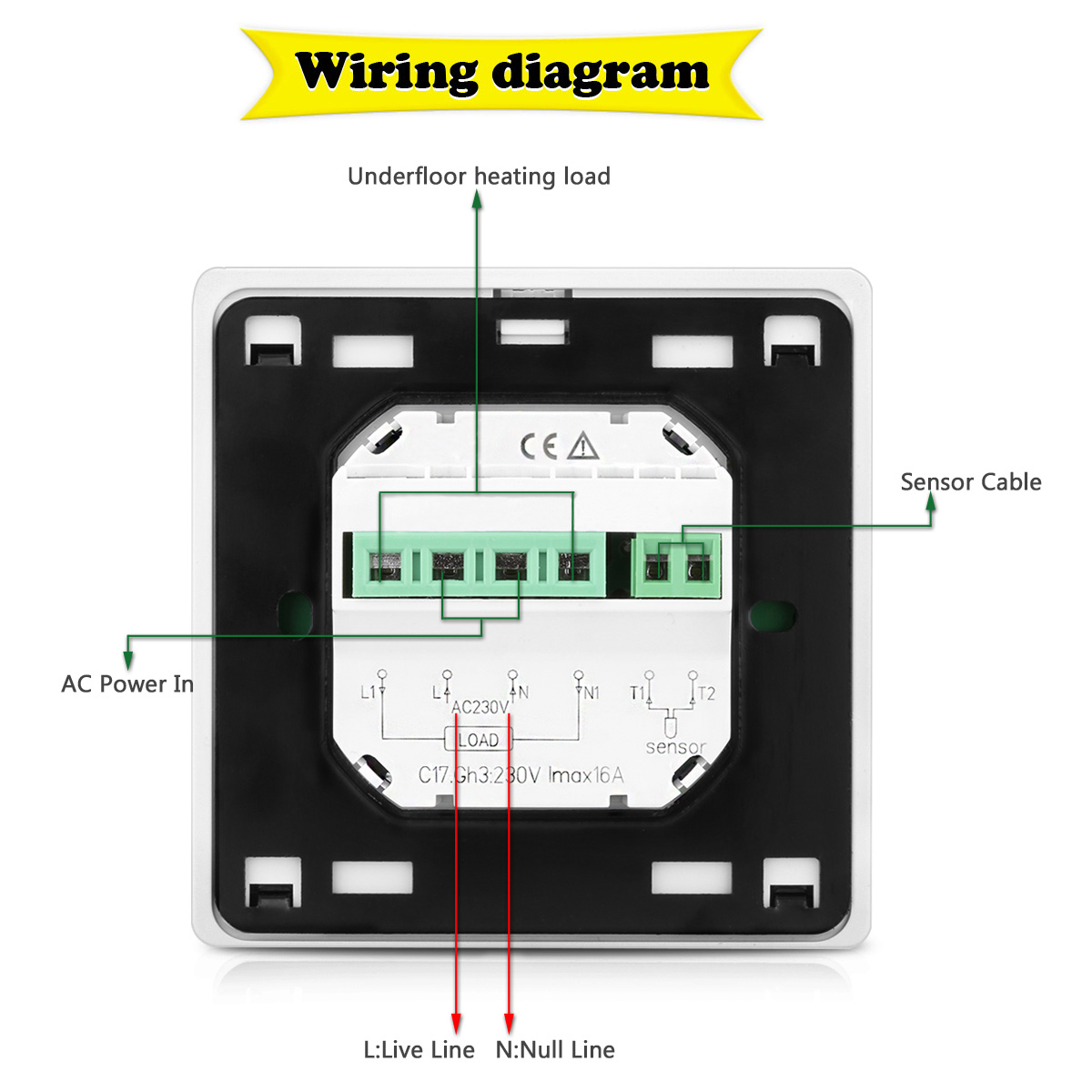 C17 Wiring Diagram Simple 2002 Bmw 323i Engine Floureon Gh3 For Home Office Wifi Programming Heating Thermostat