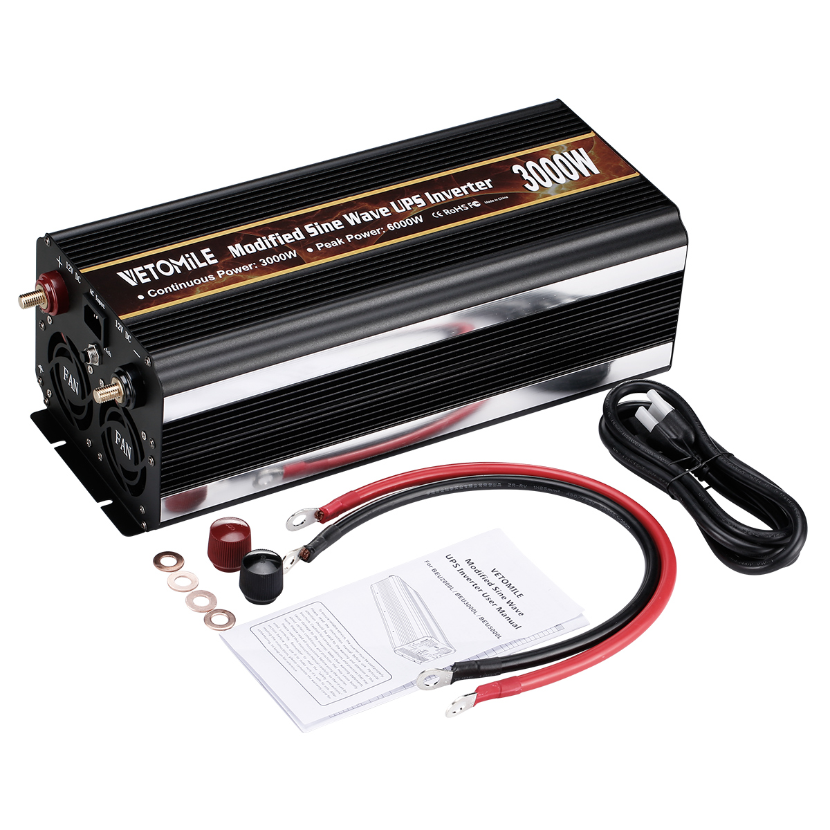 6000w Car Modified Sine Wave Ups Power Inverter Peak 12v Dc To 110v Circuit With Waveform Images Verified 1 X User Manual