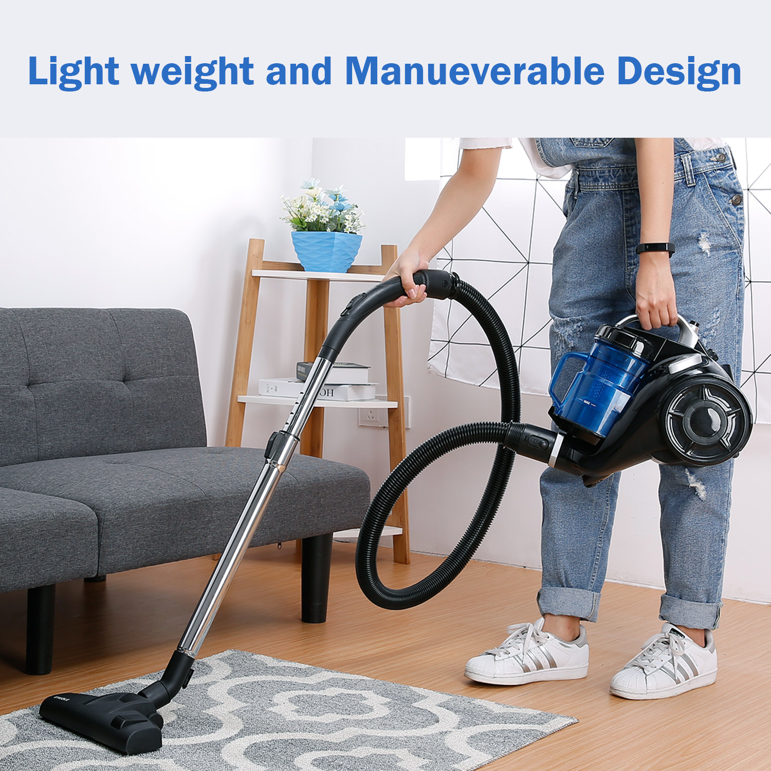 Eyugle Upright Corded Floor Carpet Bagless Canister Vacuum