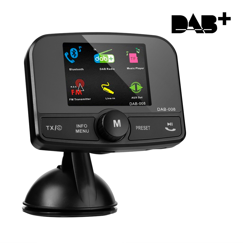 2 4 39 39 in car dab dab digital radio adapter bluetooth fm. Black Bedroom Furniture Sets. Home Design Ideas