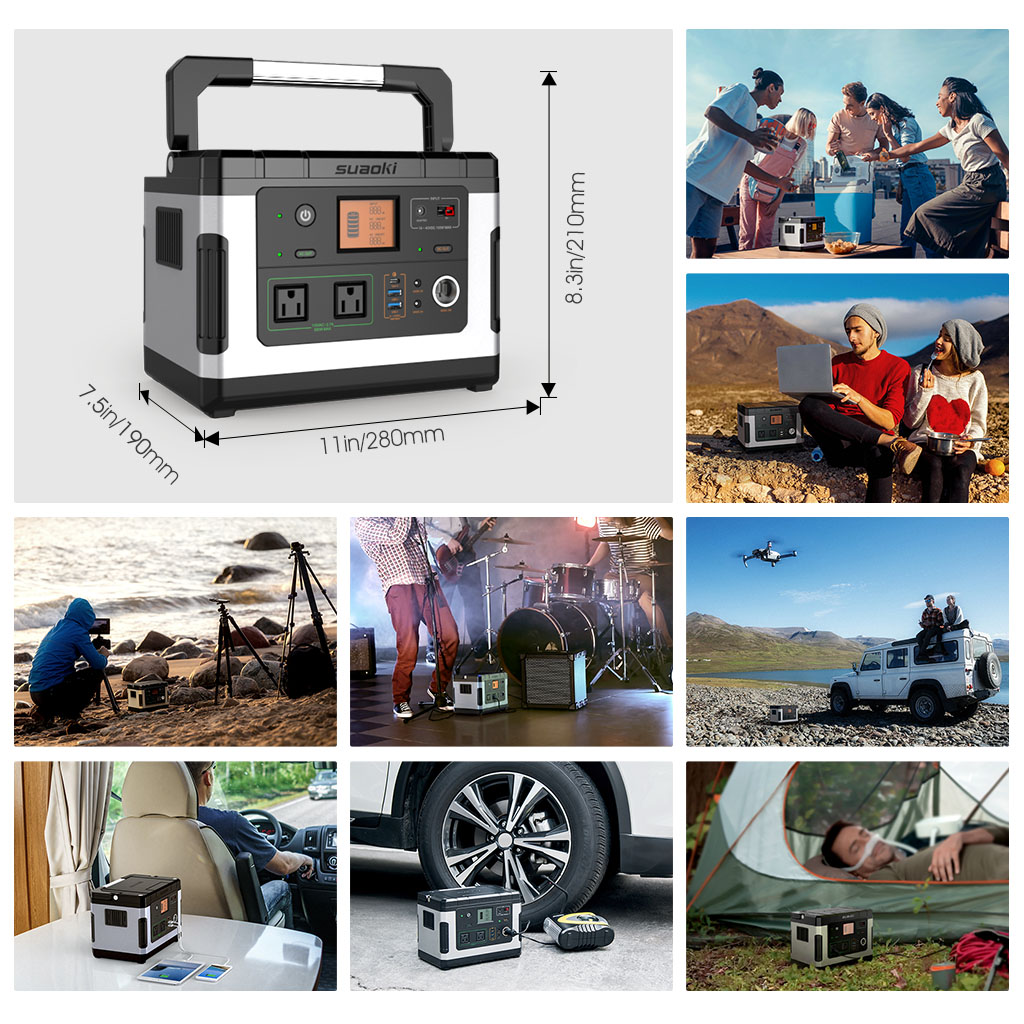 How Much Does It Cost To Have A Car Shipped >> Suaoki 500Wh 12V Power Station Solar Generator Supply