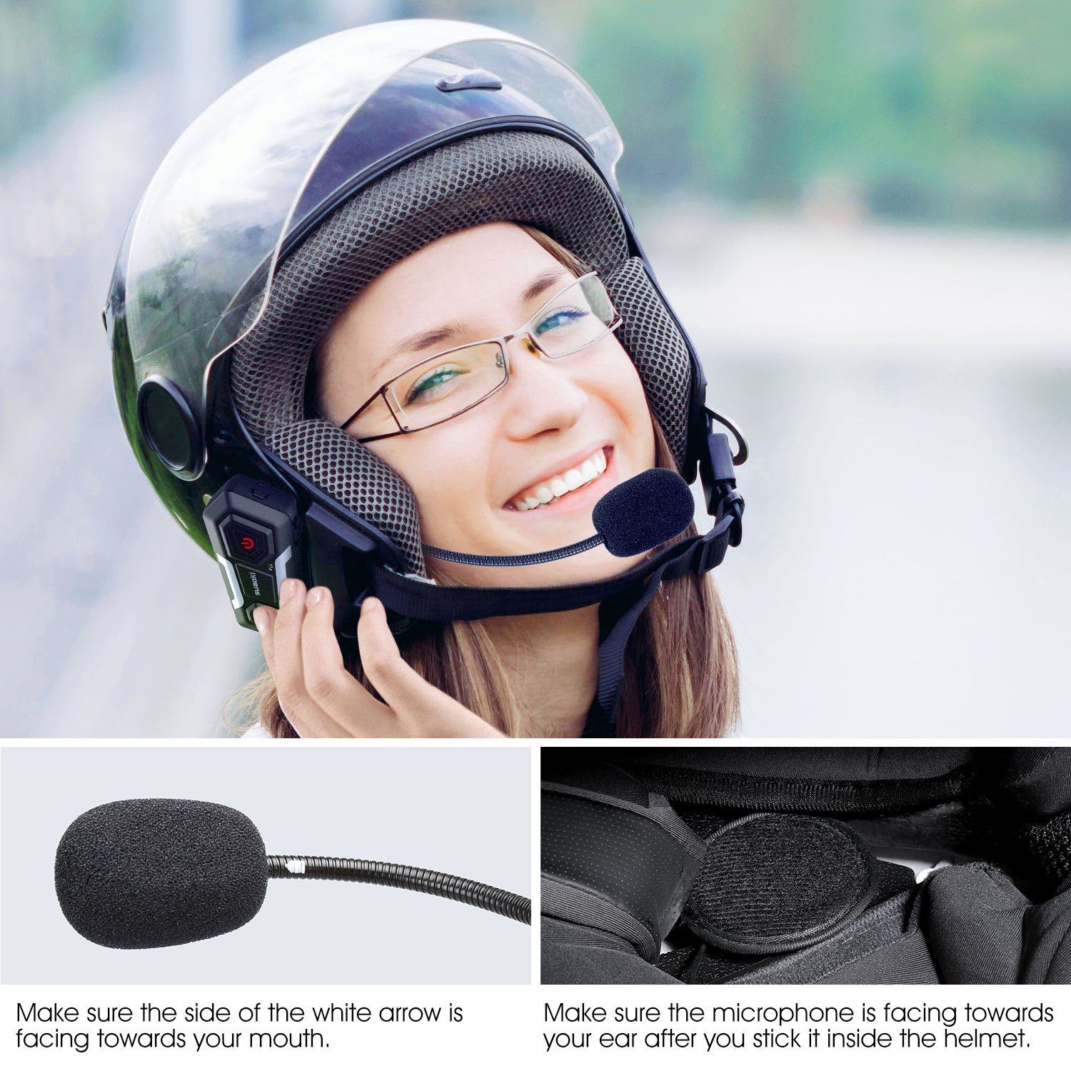 suaoki t10 bluetooth motorrad helm intercom headset. Black Bedroom Furniture Sets. Home Design Ideas