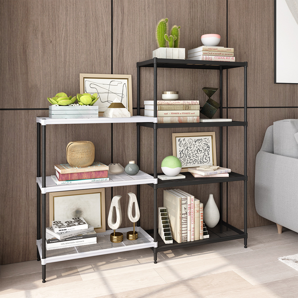 Details About 4 3 Tier Wire Storage Rack System Organizer Shelving Shelf Home Kitchen Adjust