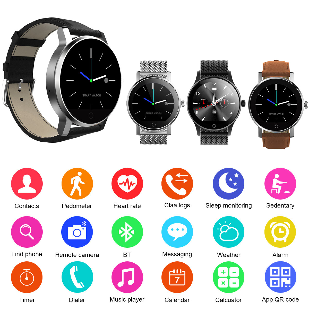 Details about Diggro K88H Smart Watch Sports Pedometer Heart Rate Monitor  for Android iOS