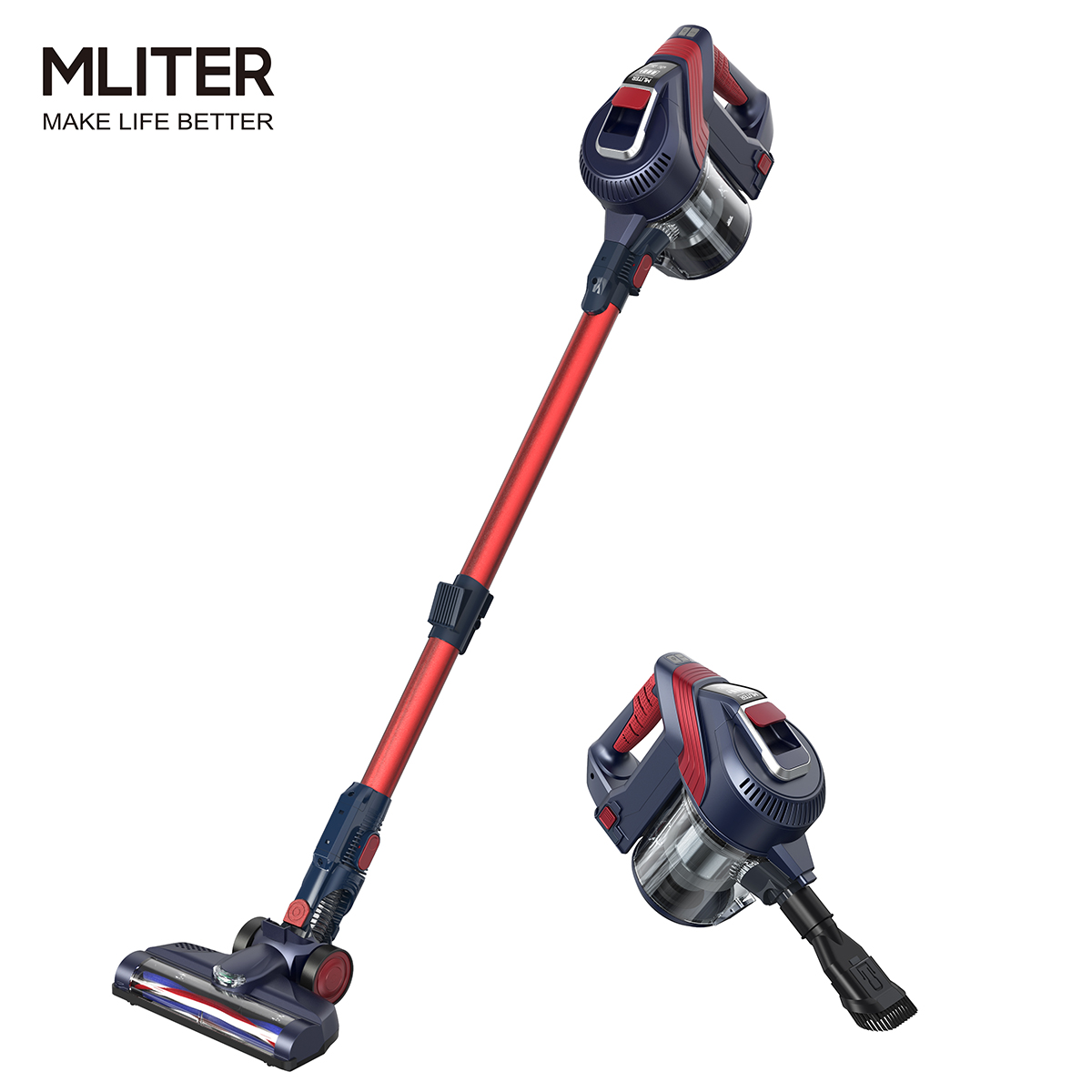 mliter 2in1 cordless vacuum cleaner 7500pa handheld upright stick bagless vac a 667016853626 ebay. Black Bedroom Furniture Sets. Home Design Ideas