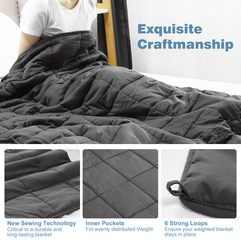 Weighted Blanket 72 X 48 Inches Twin Size 15lbs Soft