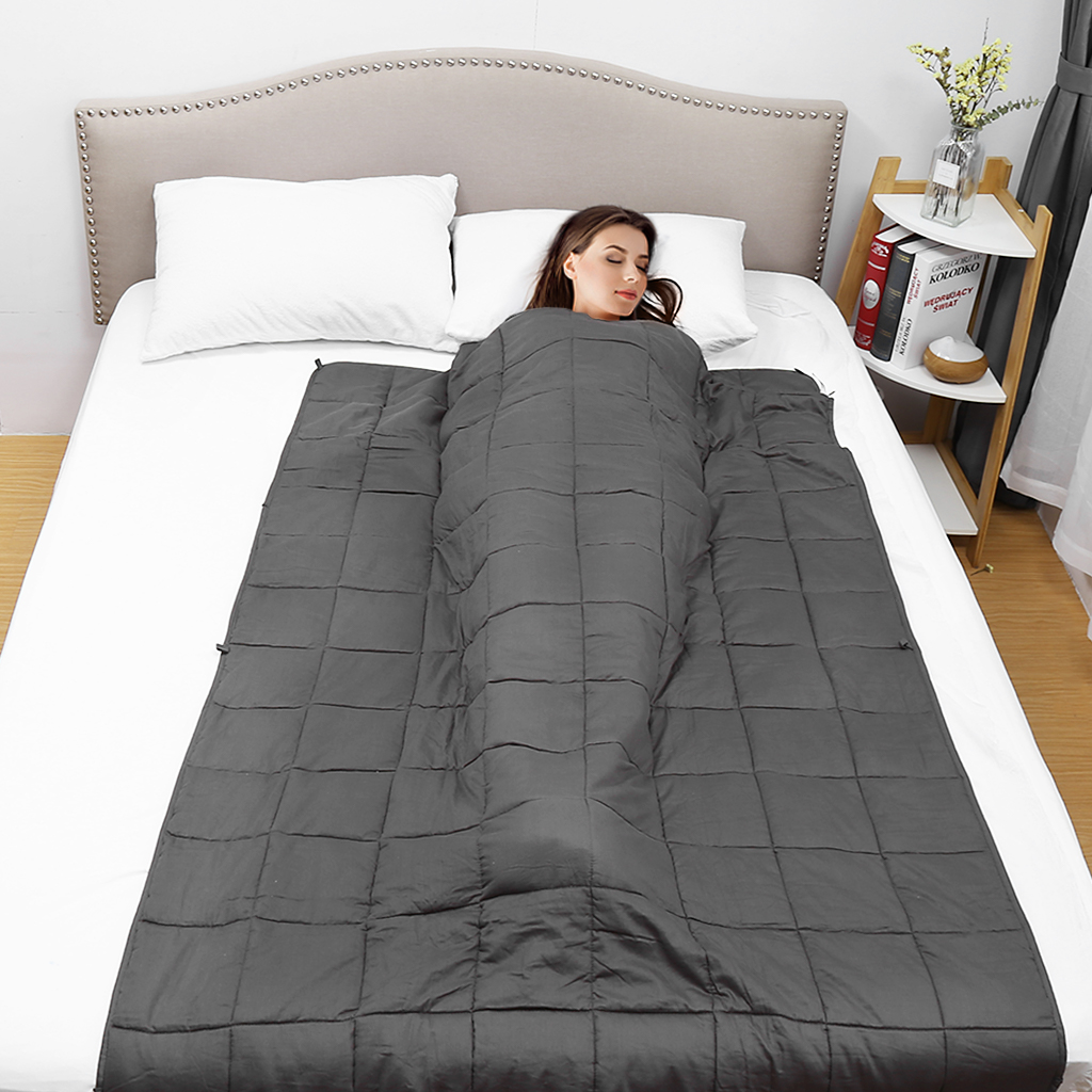 Weighted Blanket Gravity Sensory Anxiety Reduce Sleep