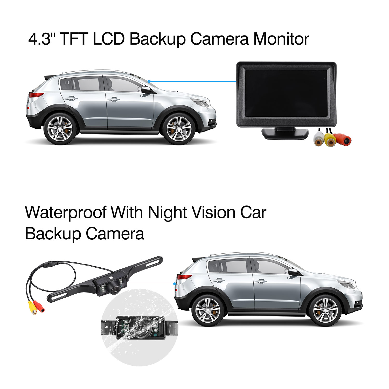 Wireless Parking Help: It is a wireless parking help, real time rear view while reversing car to ensure your safety with strong anti-interference ability ...