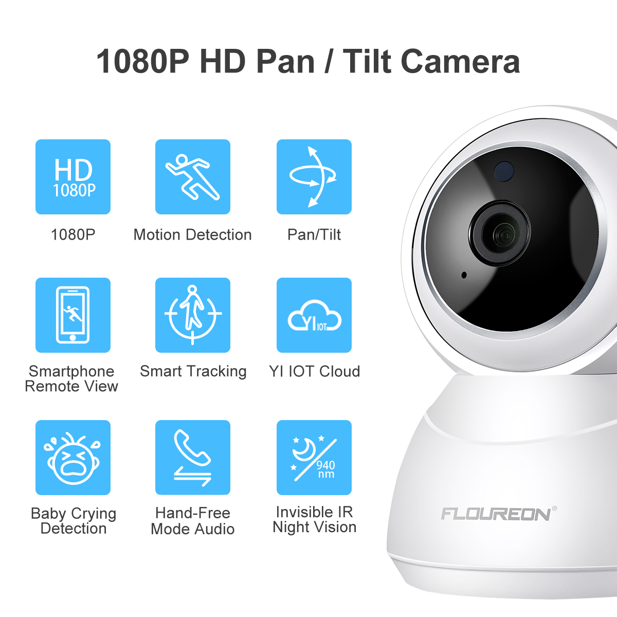 Details about 4X Full HD 1080P YI IOT Cloud Wireless Wifi IP Camera  Pan/Tilt Zoom Night Vision