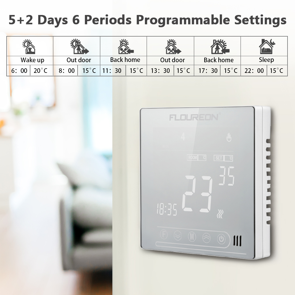 Lcd Touch Screen Digital Programmable Electric Heating