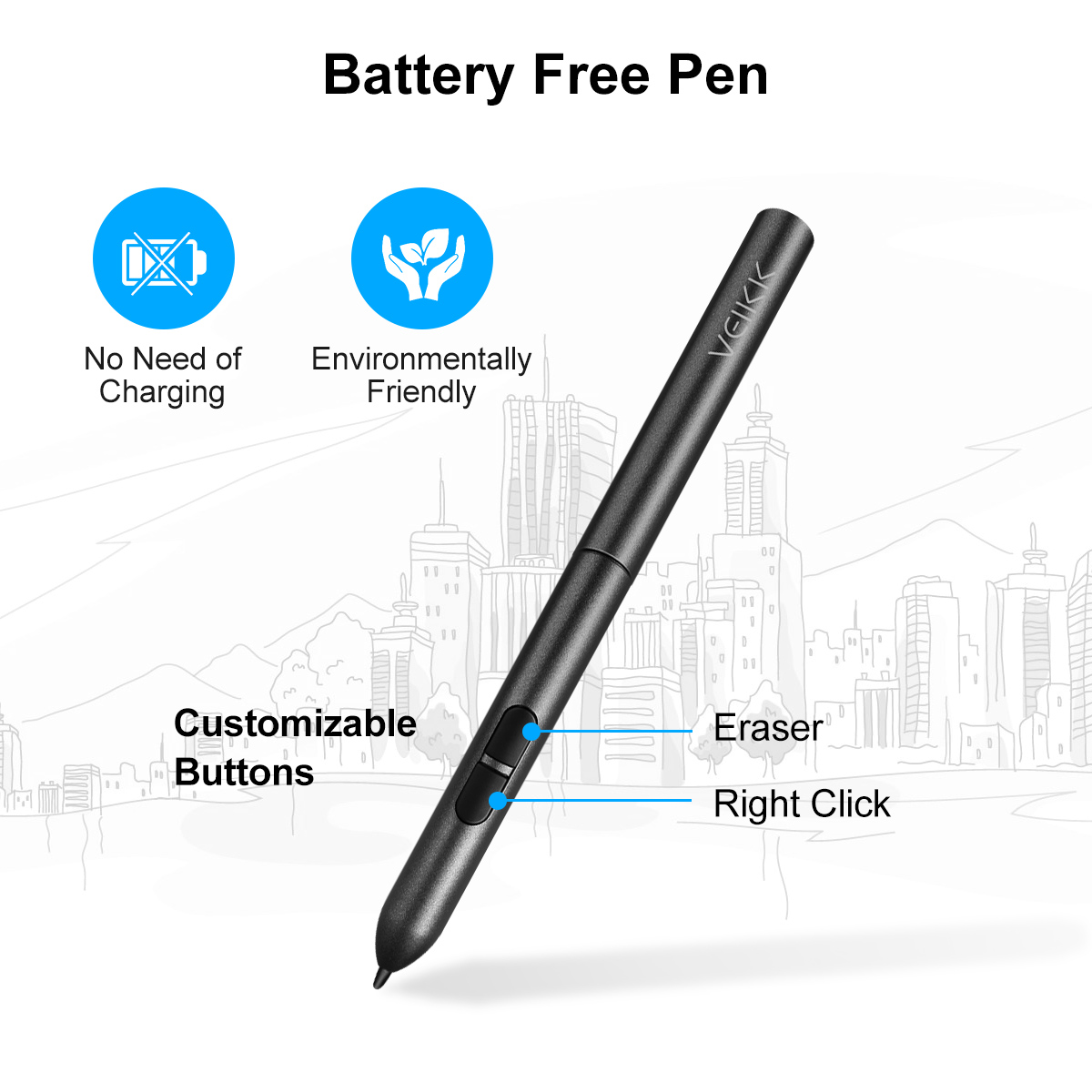 Details about 6x4Inch Ultrathin OSU Drawing Board Graphics Tablet Pad  Digital+Battery-Free Pen