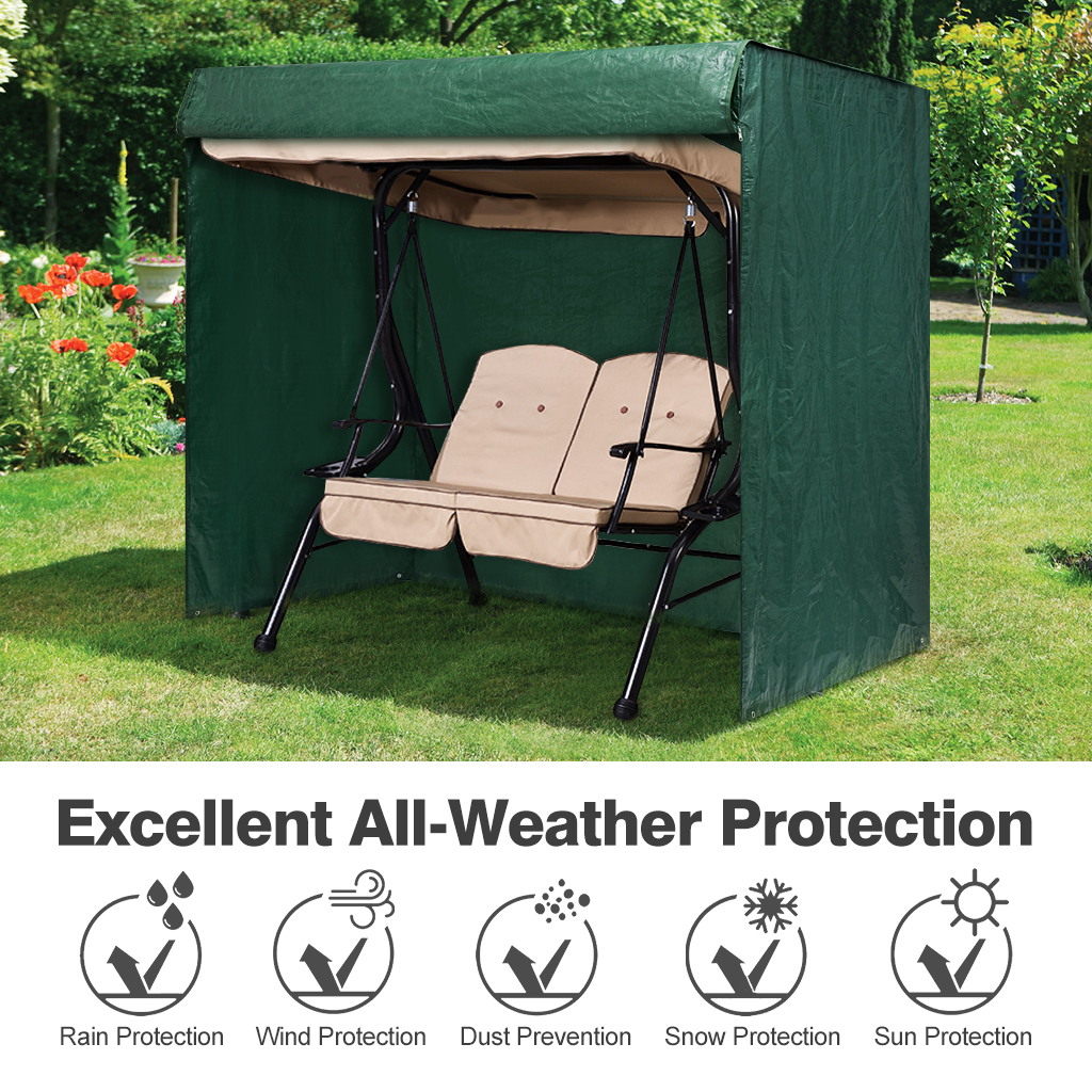 2 Seater Patio Swing Chair Top Canopy Replacement Cover Outdoor